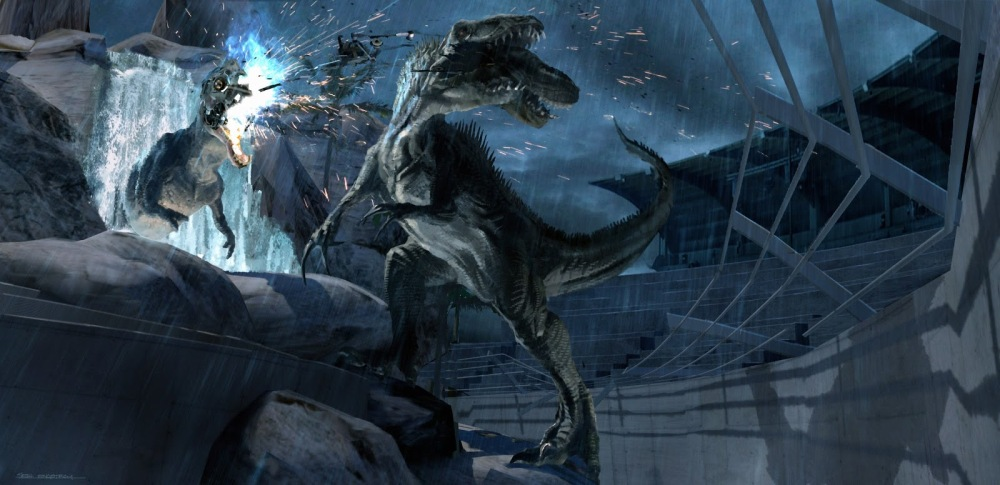 jurassicworld_raptorstadium_indominusrex_destroyesmechanicalrex