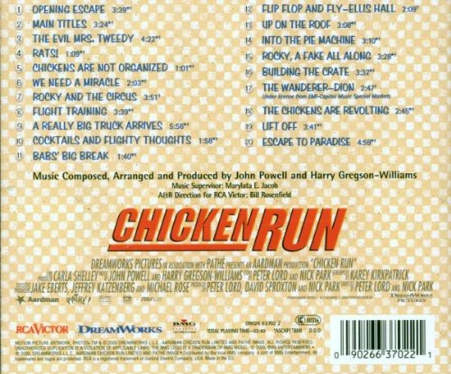 chicken run powell gregson williams