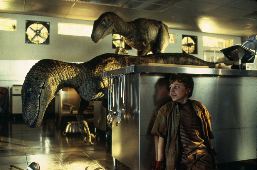 Jurassic_Park_raptors cucina bestiario monster movie hot