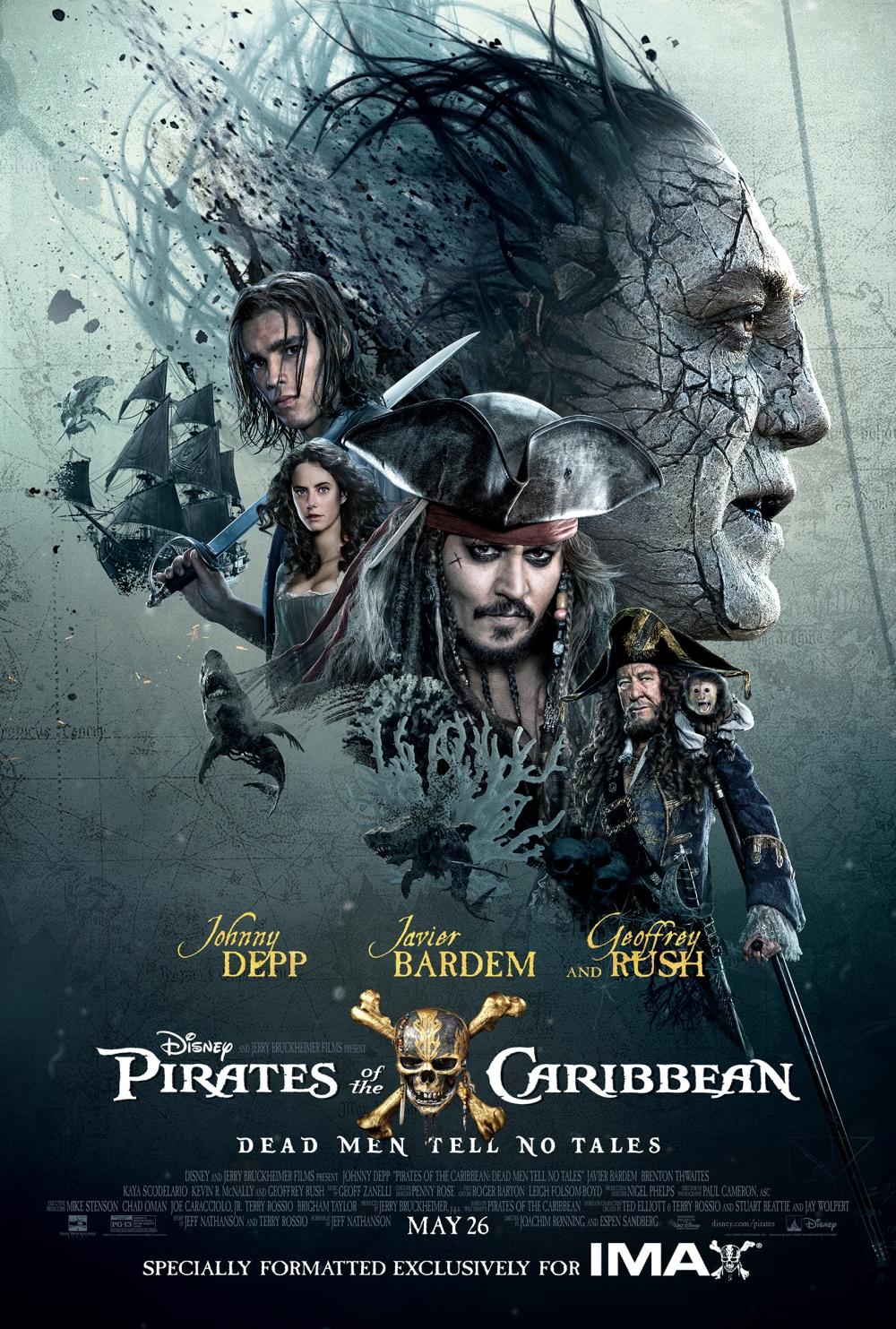 pirates caribbean dead men no tales depp rush review recensione hot hd zio po1