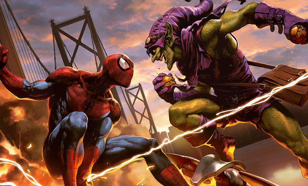 marvel-spider-man-vs-green-goblin-premium-art-print-feature-500334