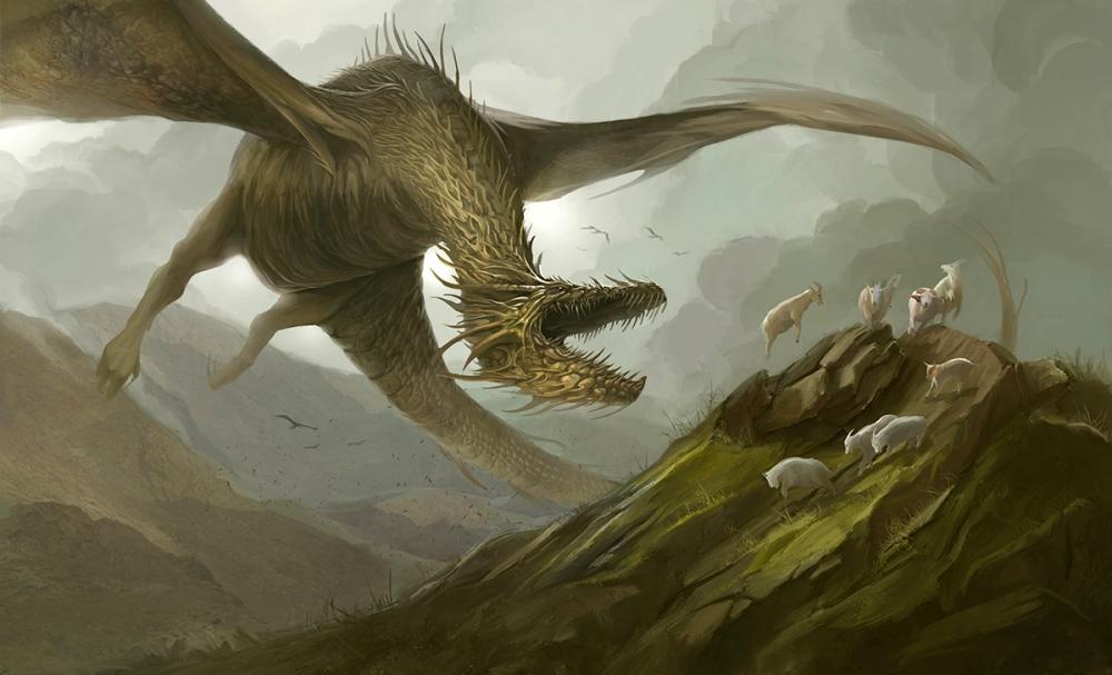 A Dragon Hunting Sheep