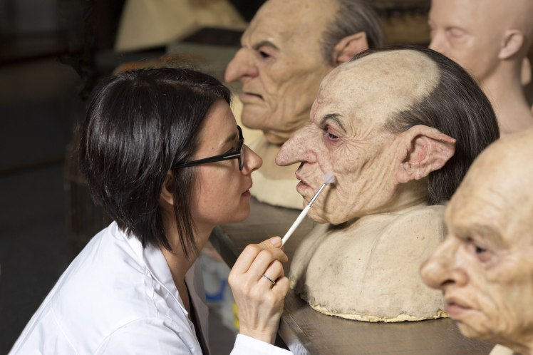 Sarita Allison, the Creature Effects Artist, can be seen hard at work at Warner Bros. Studio Tour London Ð The Making of Harry Potter, spring cleaning the goblin masks ahead of Easter and the Half-Giant Hagrid activity beginning on the 25th March. Pix.Tim Anderson
